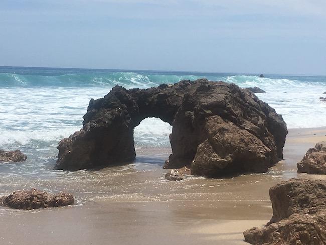 rock arch on beach