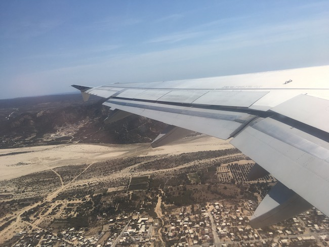 flying over San Jose del Cabo